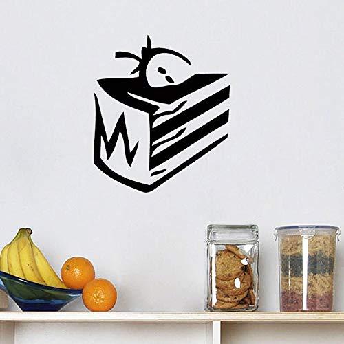 Tianpengyuanshuai muursticker voor taart, schattige aardbeien, decoratie voor thuis, keuken, restaurant, muurkunst, decoratie voor de kinderkamer