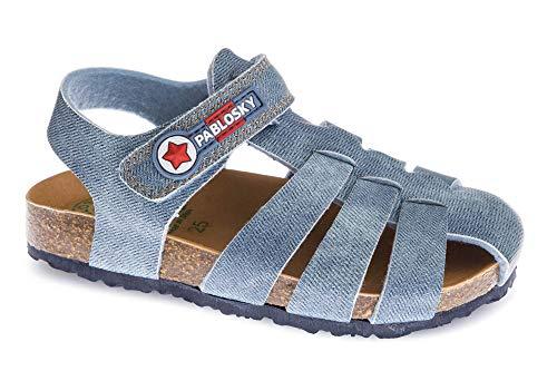 Pablosky 596441, Sandale, Bleu, 34 EU