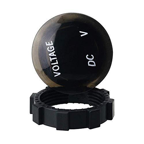 Voltímetro de pantalla digital LED, voltímetro a prueba de agua Multímetro digital de rango automático Cargador de voltaje DC 12V-24V para automóvil Motocicleta Barco Vehículo marino Camión