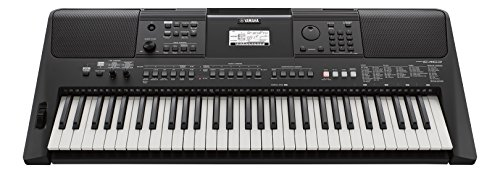 Yamaha PSR-E463 Portable Electric Beginners Digital Keyboard, 61 Touch Sensitive Keys, in Black