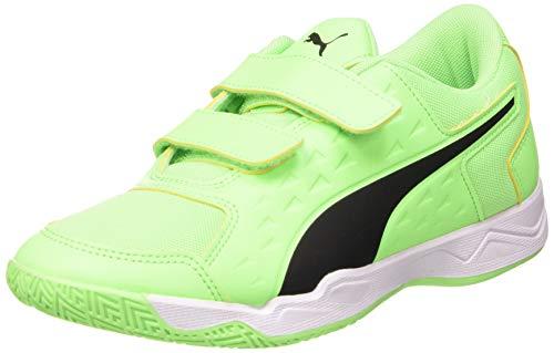 PUMA Unisex Kids Auriz V Jr Football Shoe Elektro Green Puma Black Puma White 12 UK