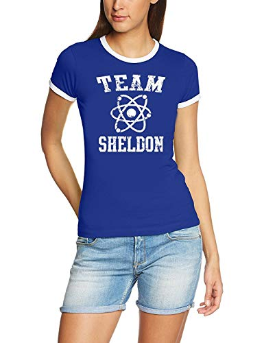 Team Sheldon - Big bang Theory ! T-Shirt Vintage blau_RIGI Gr.L