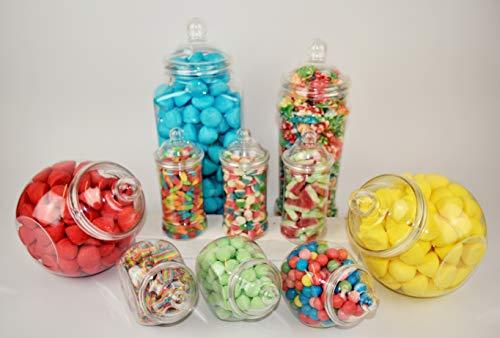 Surtido de 10 tarros de plástico para fiesta