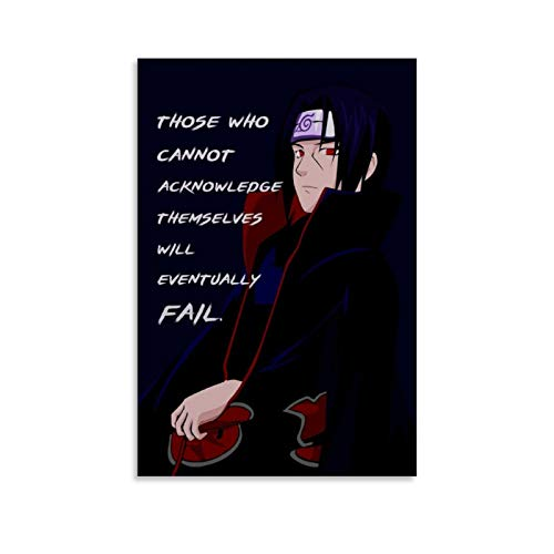 BEIZI Itachi Uchiha Anime Quote Poster Decorative Painting Canvas Wall Art Living Room Posters Bedroom Painting 12x18inch(30x45cm)