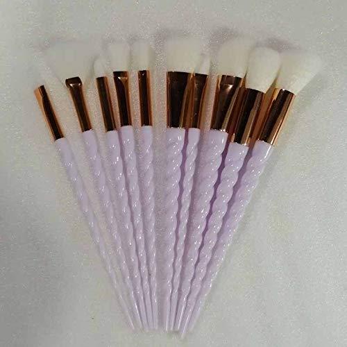 Brocha de maquillaje 10pcs pinceles de maquillaje Juegos Maquiagem Fundación polvo cosmético de sombra de ojos Blush Las mujeres de belleza brillo fabricar herramientas el cepillo ( Handle Color : 3 )