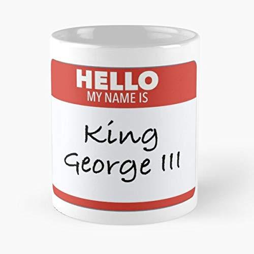 Hello My Name Is King George Tag Classic Mug - 11,15 Oz.