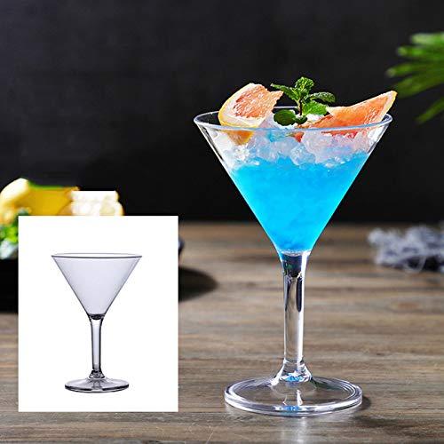 Emoshayoga Résistance à l'usure en Verre à Champagne en Verre à Cocktail en Verre Acrylique inodore Non Toxique pour Les hôtels(8061 Cup No. 8)