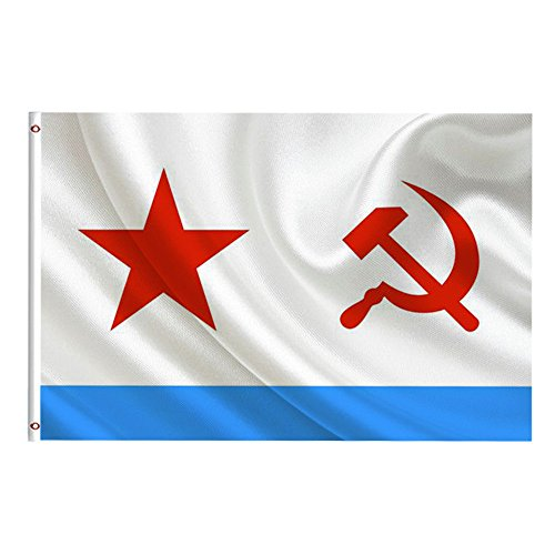 Flagge Fahne,COLORFUL 3x5Ft UdSSR Sowjetische Marine Flag Victory Day für Russland Russische Flags Wall Banner