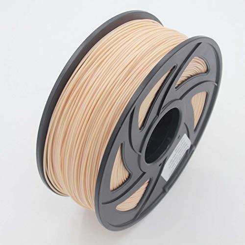 WSHZ Filament pour imprimante 3D PLA, précision dimensionnelle +/- 0,03 mm, Bobine de 1 kg, 1,75 mm, Couleur de Peau, pour Impression 3D,8volumes