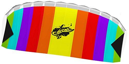 HQ- Stunt Foil Comet Rainbow R2F Cerf-Volant, 102171, Multicolore