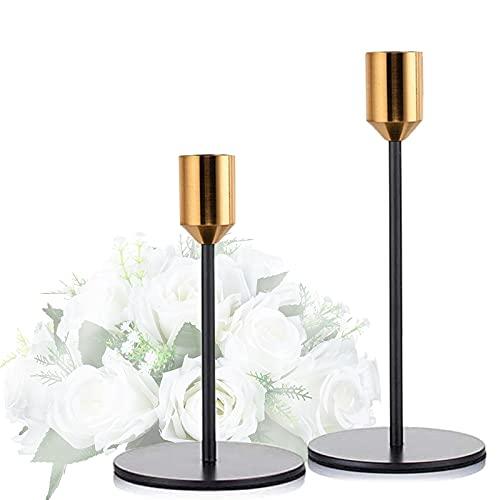 Portavelas,2 piezas Candelabro Retro,para velas cónicas,centro de mesa decorativo para fiestas,bodas,sala de estar,CEASELESLY un candelabro imprescindible para una cena romántica a la luz de las velas