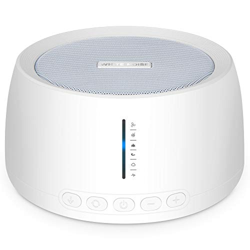 Portable White Noise Machine, Compact Sleep Sound Therapy with Earphone Jack, 30 Soothing Sounds, 32 Volume Levels, Timer & Memory Feature, Sound Machine for Home Office Travel Seniors Adults