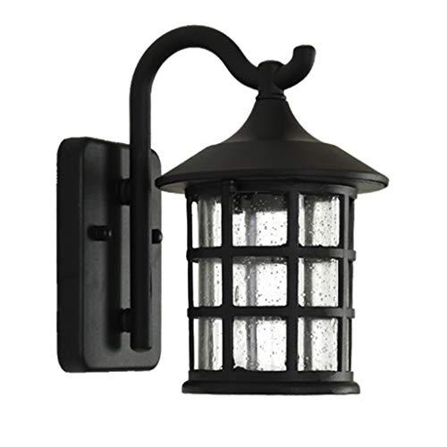 Lámpara de Pared Lámpara de Pared casero Cocina al Aire Libre de la lámpara de la Herramienta y la Pared de la decoración del hogar LED lámpara de Pared Impermeable (Negro) Habitación