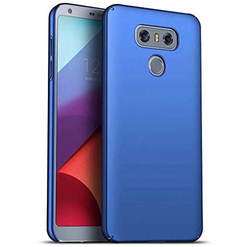 NiaCoCo Compatible con Funda LG G6 Silicona para PC A Prueba de choques Ultra Delgado Anti-rasguños Estuche Protector para LG G6-Azul