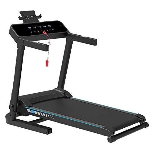 Máquina elíptica Cross Trainer Máquinas para correr Cinta de correr Espacio Saver Fitness Con Tablet Holder Máquina eléctrica Correr Correr Máquina de la aptitud Para Gimnasio Gimnasio (Color: Blanco,