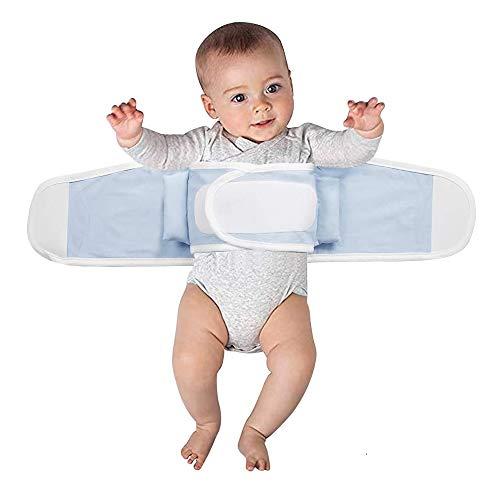 Bébé Emmaillotage - Cintura di protezione per cordoncini Ombilical di neonato sacco a pelo coperta avvolgente avvolgente doppio strato elastico sacco nanna per neonati 2-12 mesi