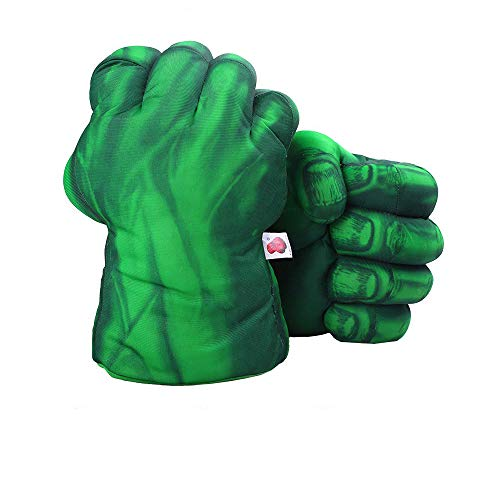 1 Pair Green Gloves, Green Smash Hands Big Soft Plush Fists Parent-Child Interactive Toy
