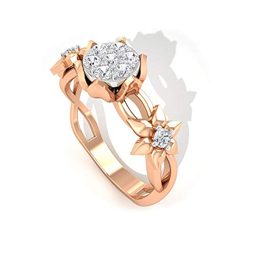 Rosec Jewels 14 quilates oro rosa redonda H-I Diamond