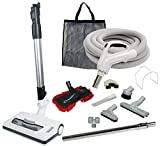 35' 'Comet' Central Vacuum Kit with Hose, Power Head & Tools - Works with All Brands of Central Vacuum Units