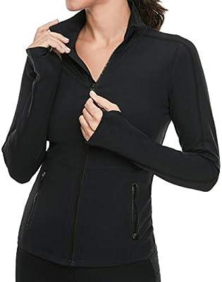 VUTRU Women's Workout Yoga Jacket Full Zip Running Track Jacket