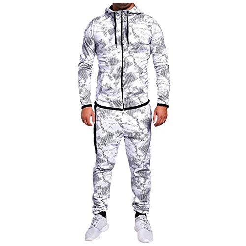 Blaue Kornblume Sportkleidung Klage Hoodie Trainingshose Mann Junge Jogginganzug Reißverschluss MEN09Gray,L(hudis Pullover Damen Kontra k Pullover Kragen Pullover Damen Rollkragenpullover)