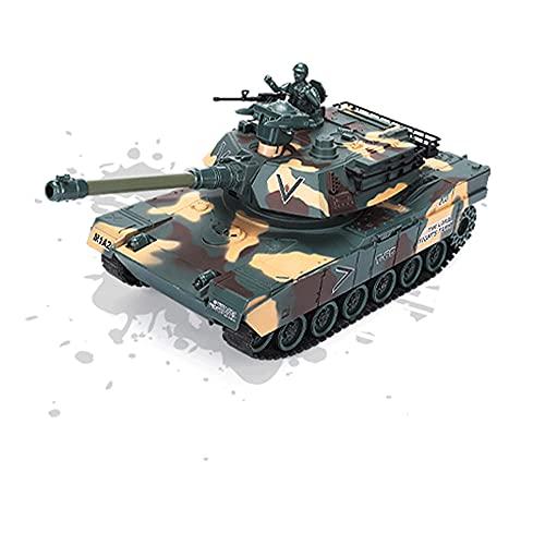 KGUANG Niños Crawler Military RC Tank Torreta giratoria Lanza BB Bullets Remote 2.4G Control Blindado Coche Luces LED Batalla Juguete eléctrico Vehículo Niño Ventilador militar Cumpleaños Regalo de Na