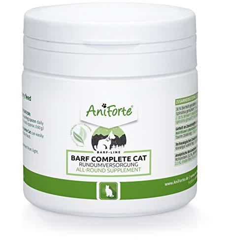 AniForte Barf Complete Katze 100g - Rundumversorgung, Barf Complete Pulver mit Omega 3, Bierhefe, Taurin Pulver, natürliche Pflanzen & Früchte, Premium Futter Zusatz zum Barfen, Vitamine & Mineralien
