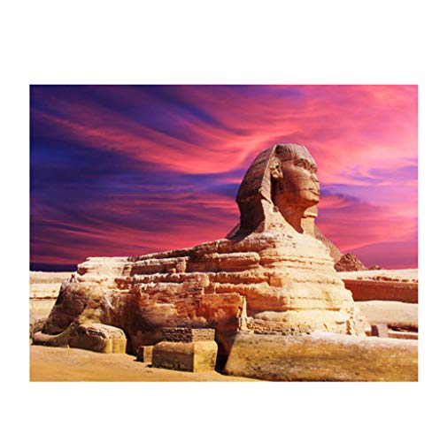 LGXINGLIyidian Adult Jigsaw Puzzle 1000 Pieces Beautiful Egyptian Sphinx 3D Modern Art Gift Diy Wood Jigsaw Puzzle Toy