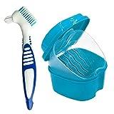 Zahnersatz- Cleanning Set Dental Gebiss Box mit Prothesenbürste Gebissreinigungskoffer Container...