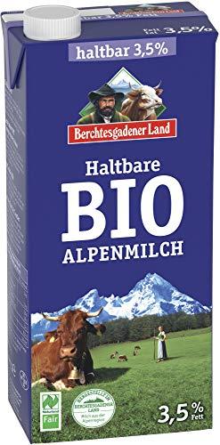 Berchtesgadener Land Bio Haltbare Bio-Alpenmilch 3,5% Fett (6 x 1000 ml)