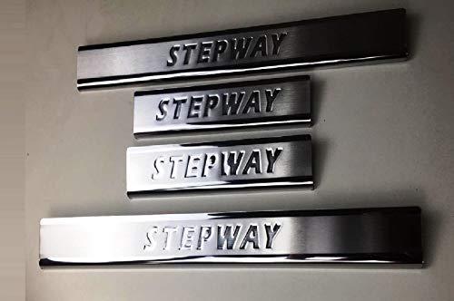mne parts für Dacia Sandero Stepway 2012-2020 4 Stück Chrom Einstiegsleisten 4 Türen Edelstahl…