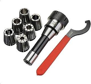 DZF697 1pc R8 Pouces Support de fraisage Outil + 6PCS ER32 Sinch + Pince à Ressort 1PCS Jeu de clés for fraisage CNC Outil...