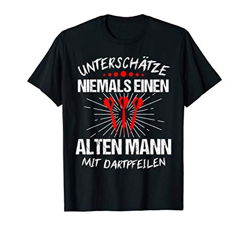 Herren Dart Lustig Darts Outfit Dartspieler Darten Geschenk T-Shirt