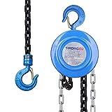 Polispasto cable Bowden aparejo de cadena 1000 kg / 1 t - 2,5 m / 250 cm - redondo