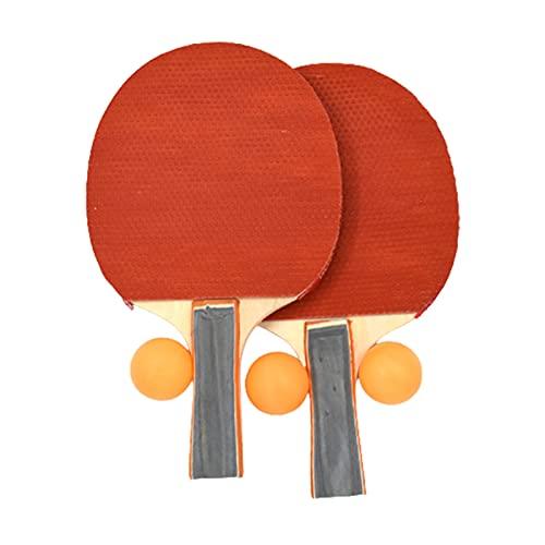 Grebest 1 Unidades engrosado Profesional Entrenamiento Ping Pong Raquetas de Tenis de Mesa para Principiantes Tipo de Entrenamiento Tenis de Mesa Horizontal Raqueta Set Set
