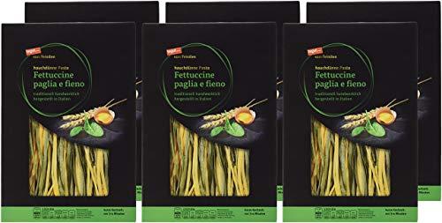 tegut... vom Feinsten Hauchdünne Pasta Fettuccine paglia e fieno, 6er Pack (6 x 250 g)