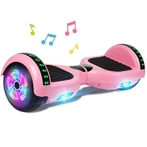 CBD Bluetooth Hoverboard for Kids, 6.5 Inch Two Wheel Hoverboard, Self Balancing Hoverboard with Bluetooth and LED Lights