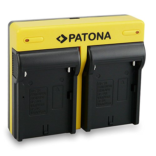 PATONA Dual Cargador para NP-F970, F550, F750, FM500H Baterias Compatible con Sony...