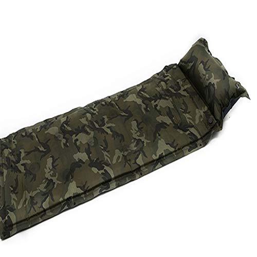 キャンプ用品 屋外自動インフレータブルピクニックマット、厚手の枕で広げたシングル、防湿テントスリーピングマット、ポータブルキャンプ用品 持ち運びが容易 (Color : Camouflage)