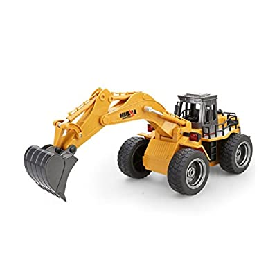 Donsinn RC Dump Truck, 1:18 4WD Full Function Construction Toy Engineering Machine Model, 6 Channel 2.4GHz Alloy Remote Control Truck w/Sound & Light