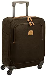 Bric's Luggage, Classic Life in Chocolate Brown. Shown in 3/4 view.