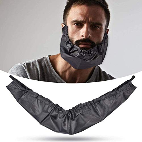 Beard Bib Apron for Men, 3 Pcs Beard Bandanas Black Beard Bonnet for Men, Adjustable Facial Hair Apron Guard Bonnet Beard Rag Beard Gains