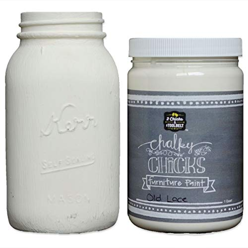Chalky Chicks | Chalk Finish Paint | Perfect for Furniture, Cabinets, Home Decor, & DIY Craft Projects | 32 oz | Old Lace