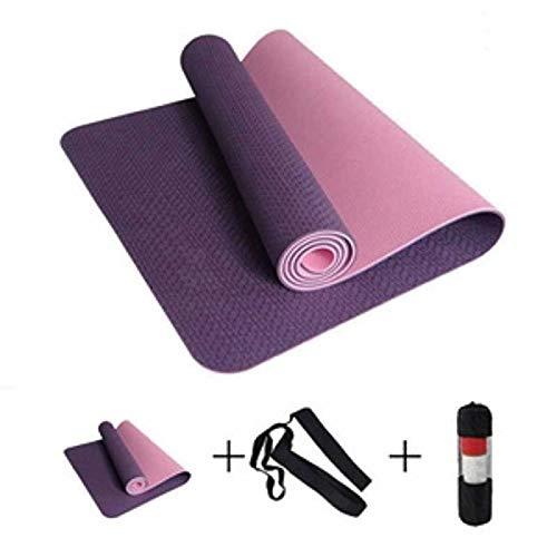 6MM Estera de Yoga AntideslizanteSport Yoga Gym 183cm Mat Fitness Pilates Gymnastics Camping Colchonete Pad with Bag Vendaje
