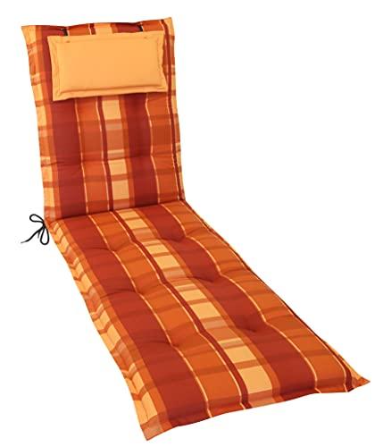 Gardissimo Rollliegenauflage Deluxe 2406', Made IN Europe, 190 x 60 x 8 cm, 100% Baumwolle, Kopfpolster