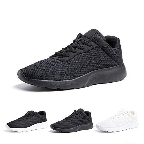 Zapatillas de Running Hombre Mujer Deportivas Casual Gimnasio Zapatos Ligero Transpirable Sneakers Negro 38 EU