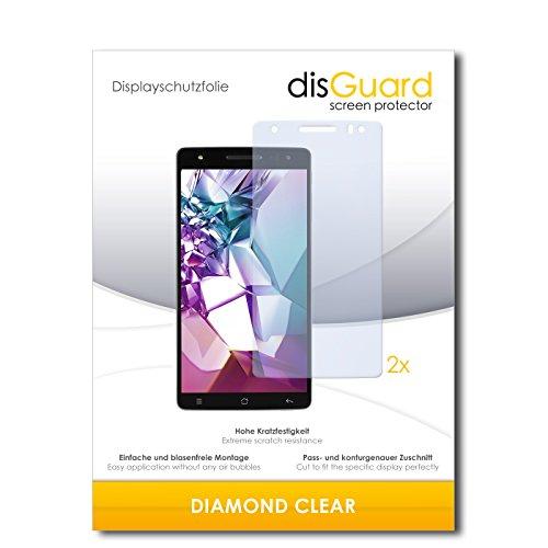 disGuard 2 x Bildschirmschutzfolie Medion Life X6001 Schutzfolie Folie DiamondClear unsichtbar