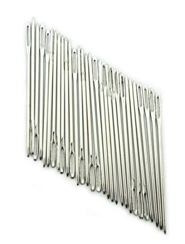 HAND® T58 Steel Easy to Thread Sewing Needles with Large Eyes - Pack of 30