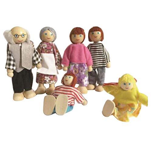 Black Temptation 6 Lovely Mini Membres de la Famille Poupées Jouets Play House Toys