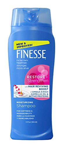 Finesse Restore + Strengthen Moisturizing Shampoo, 13 oz (Pack of 6), Moisturize & Repair Dry or Damaged Hair for Soft, Healthy Looking Hair